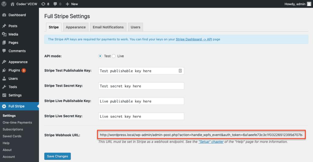 Configure Stripe in WordPress